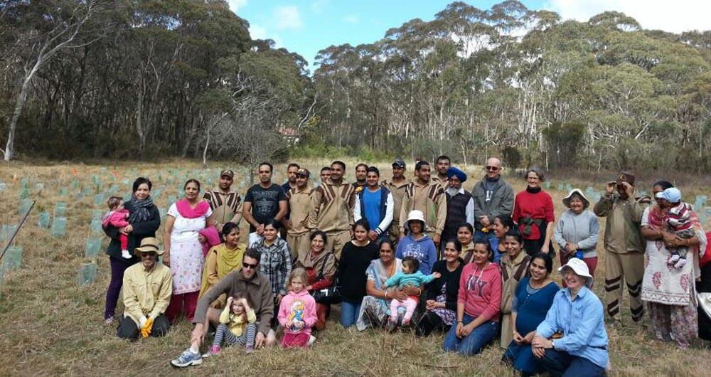 Sadh Sangat Sydney Tree Plantation 23 sept